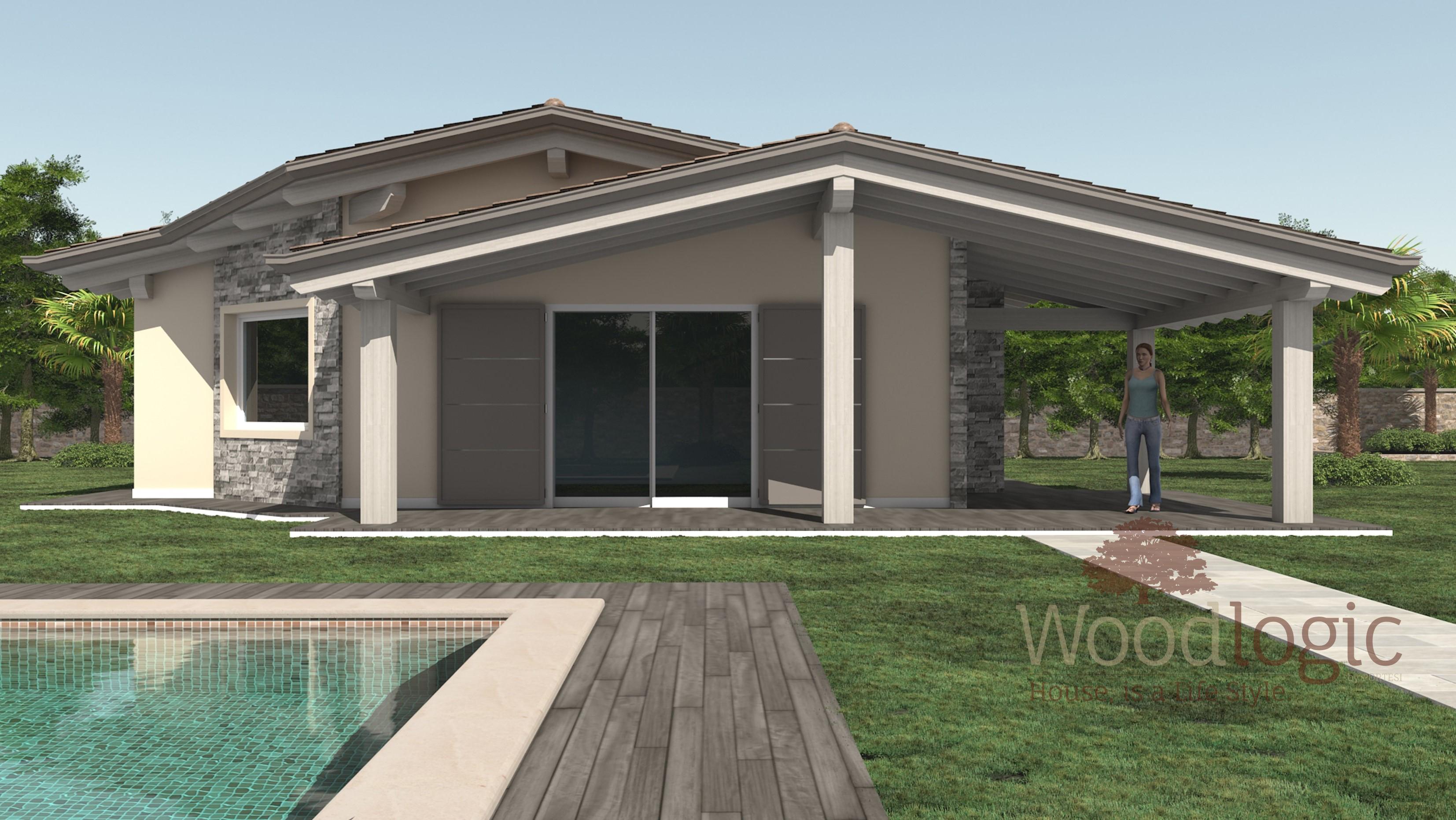 Villa mimosa case ecologiche classiche woodlogic for Costo per costruire piani di casa