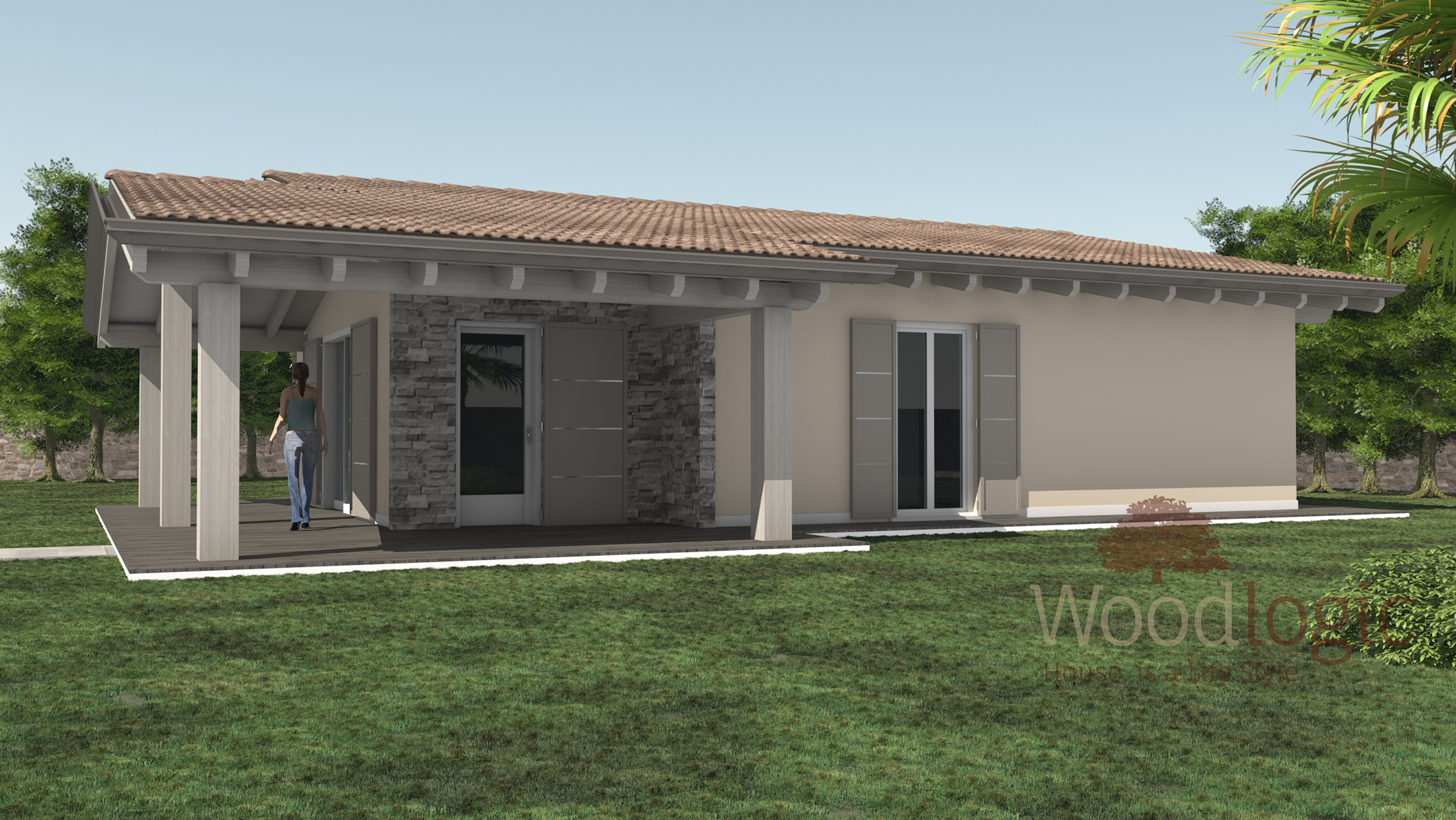 Villa mimosa case ecologiche classiche woodlogic for Case moderne classiche