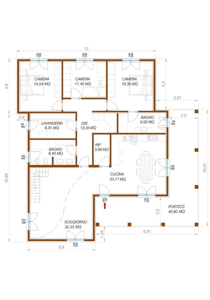 Villa fiordaliso case ecologiche classiche woodlogic for 2 metri quadrati di garage