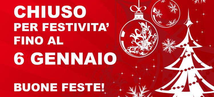 Ferie Natale 2018 – Riapertura Lunedì 7 Gennaio 2019